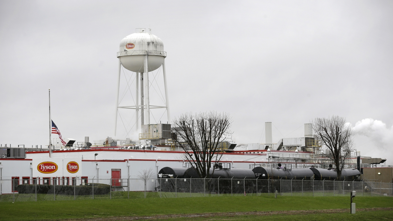 The Tyson Foods pork processing plant in Iowa.