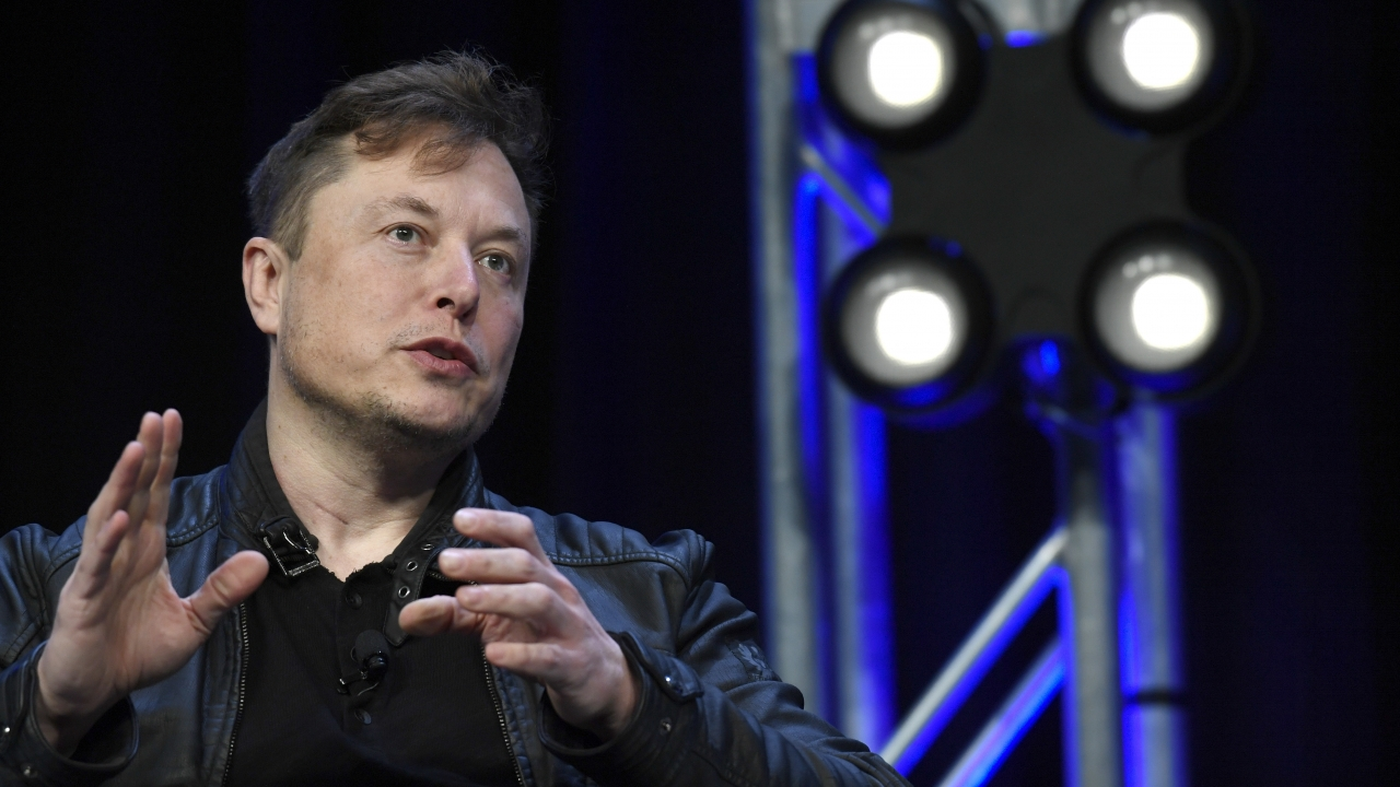 Tesla and SpaceX Chief Executive Officer Elon Musk speaks at the SATELLITE Conference and Exhibition in Washington