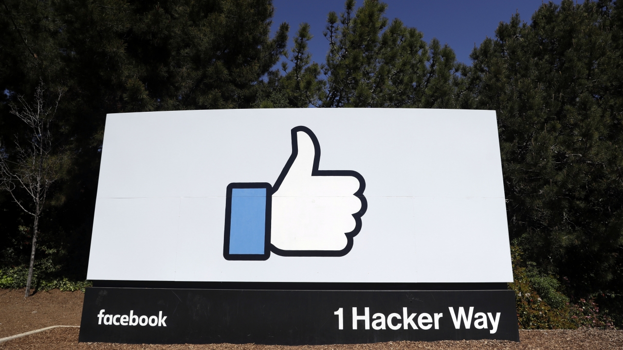 Sign in front of Facebook HQ