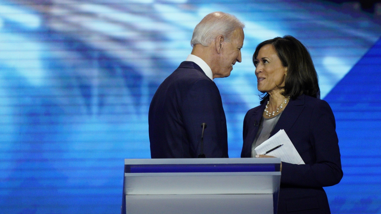 Joe Biden and Sen. Kamala Harris