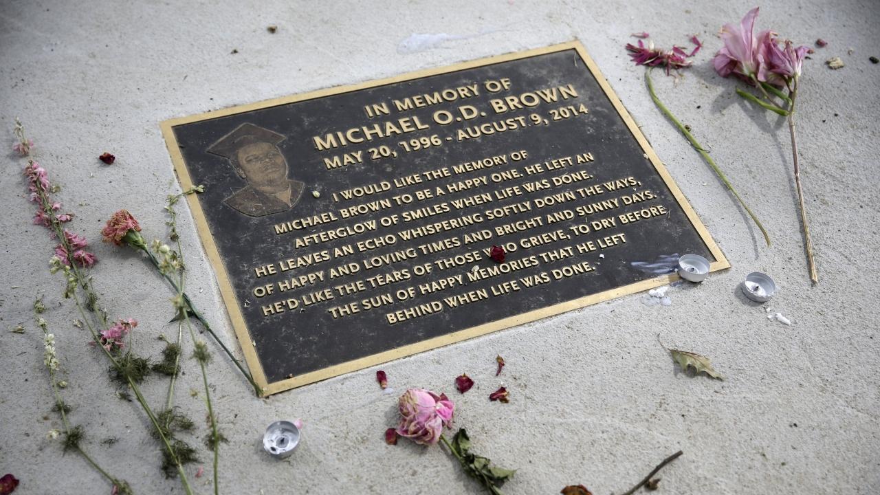 memorial in memory of Michael Brown