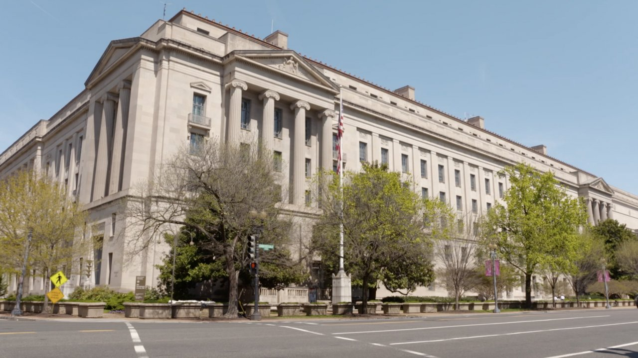 The Department of Justice building.