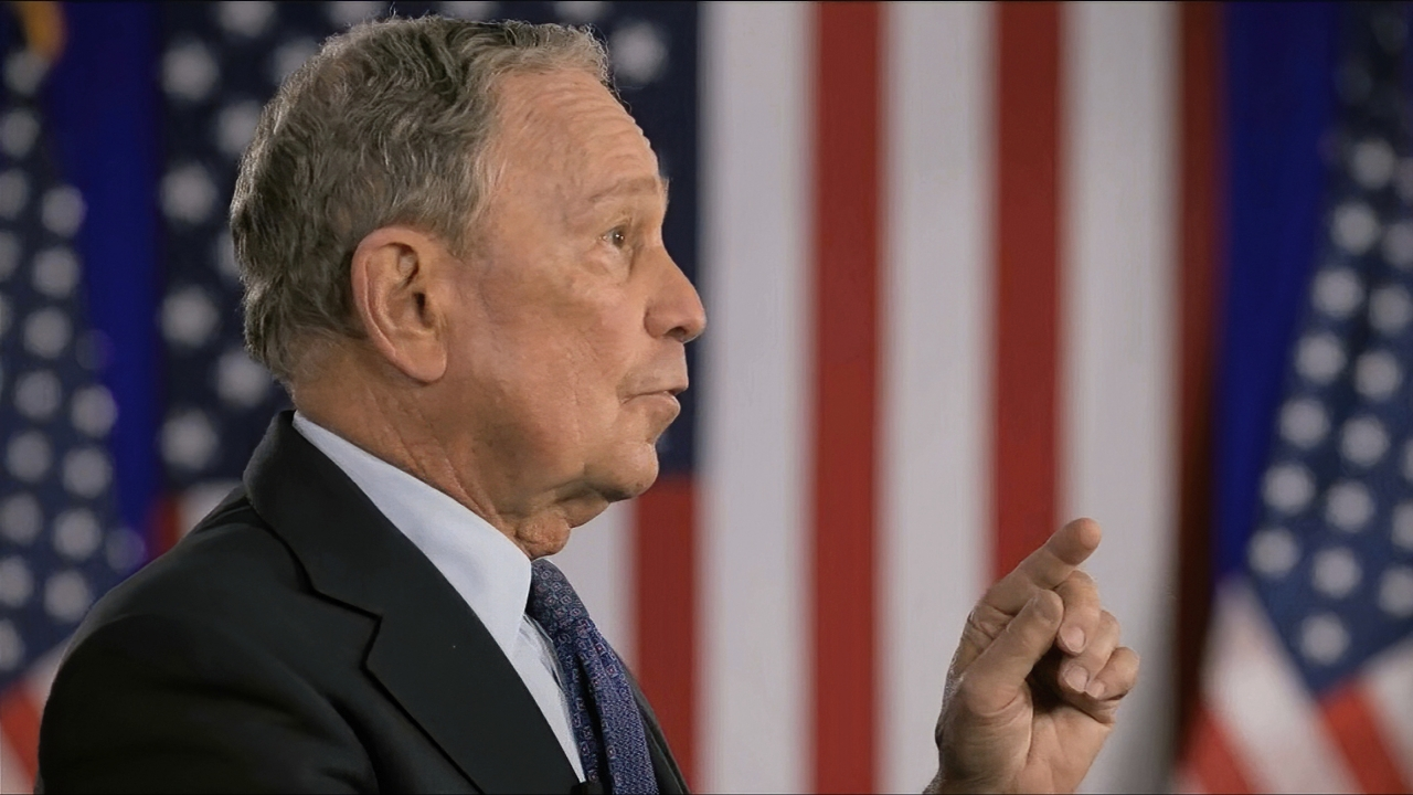 Michael Bloomberg speaks during the Democratic National Convention