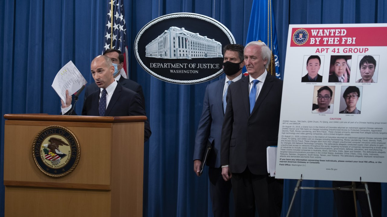 Acting U.S. Attorney for the District of Columbia Michael R. Sherwin speaks, Wednesday, at the Justice Department.