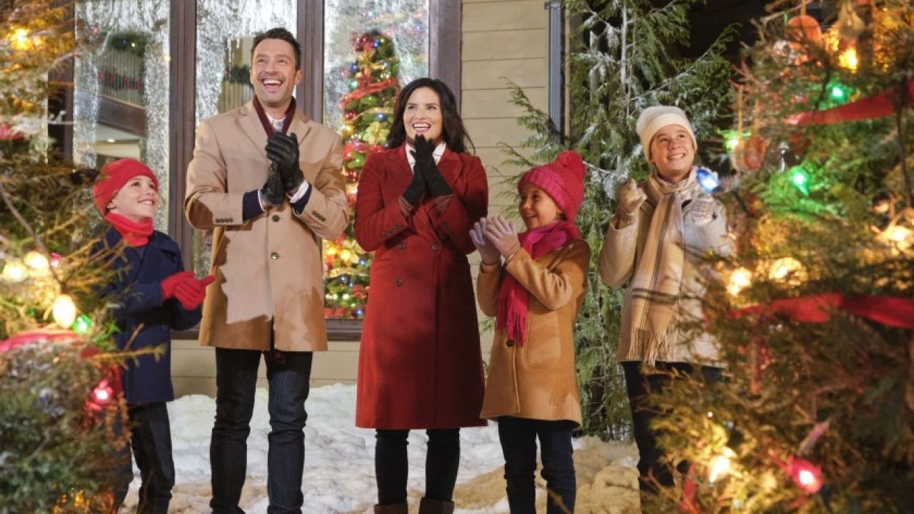 Hallmark Christmas movie posters.