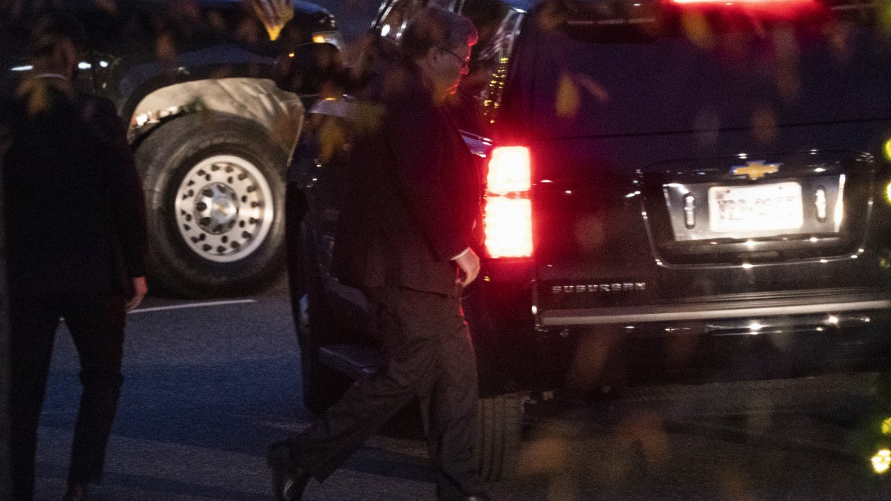 Attorney General William Barr leaves a meeting at the White House, Tuesday, Dec. 1, 2020, in Washington.