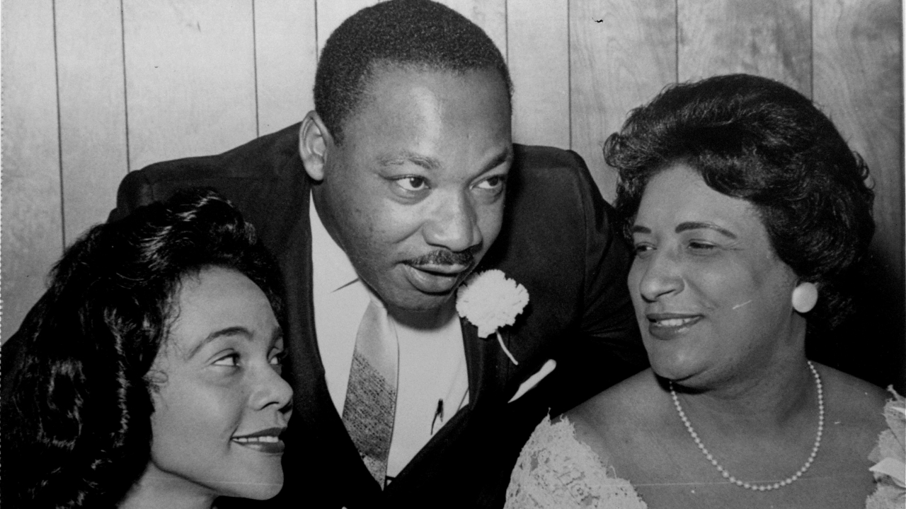 Aug. 9, 1965, file photo, of Dr. Martin Luther King, Jr. his wife, Coretta and civil rights champion Constance Baker Motley.