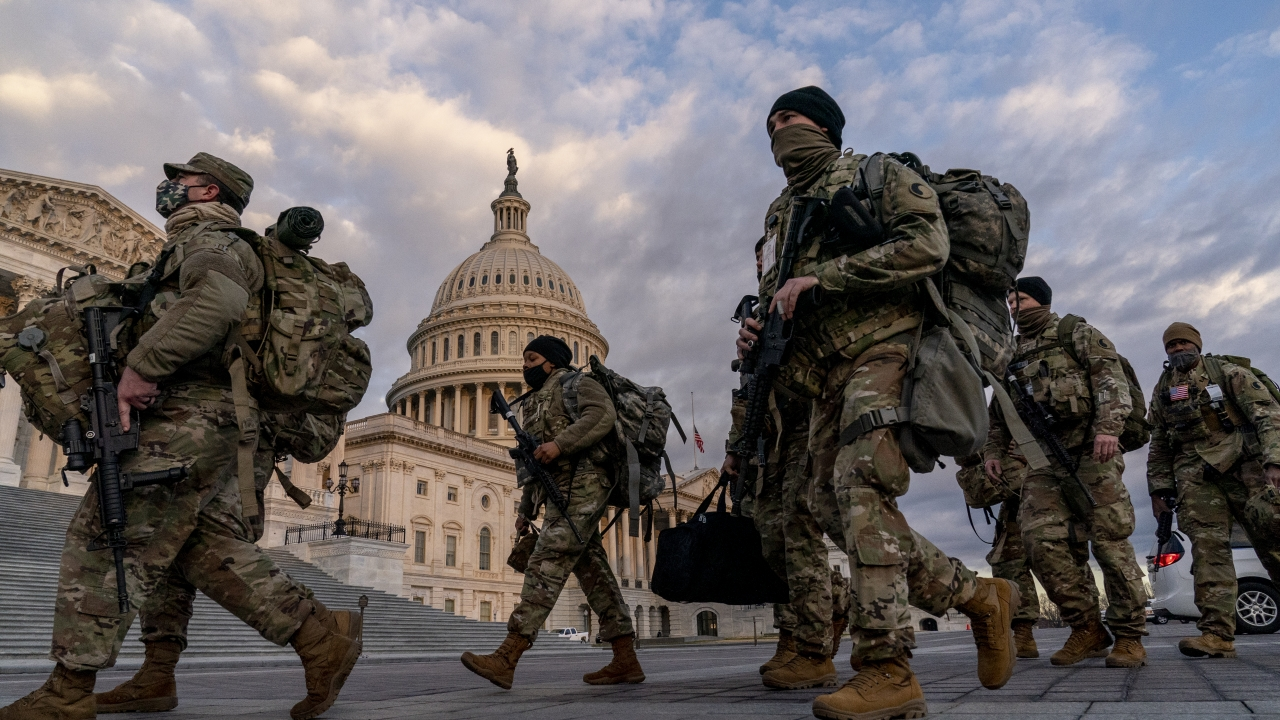 National Guard troops at the U.S. Capitol