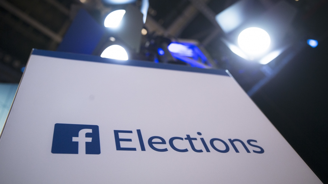 Facebook Elections sign
