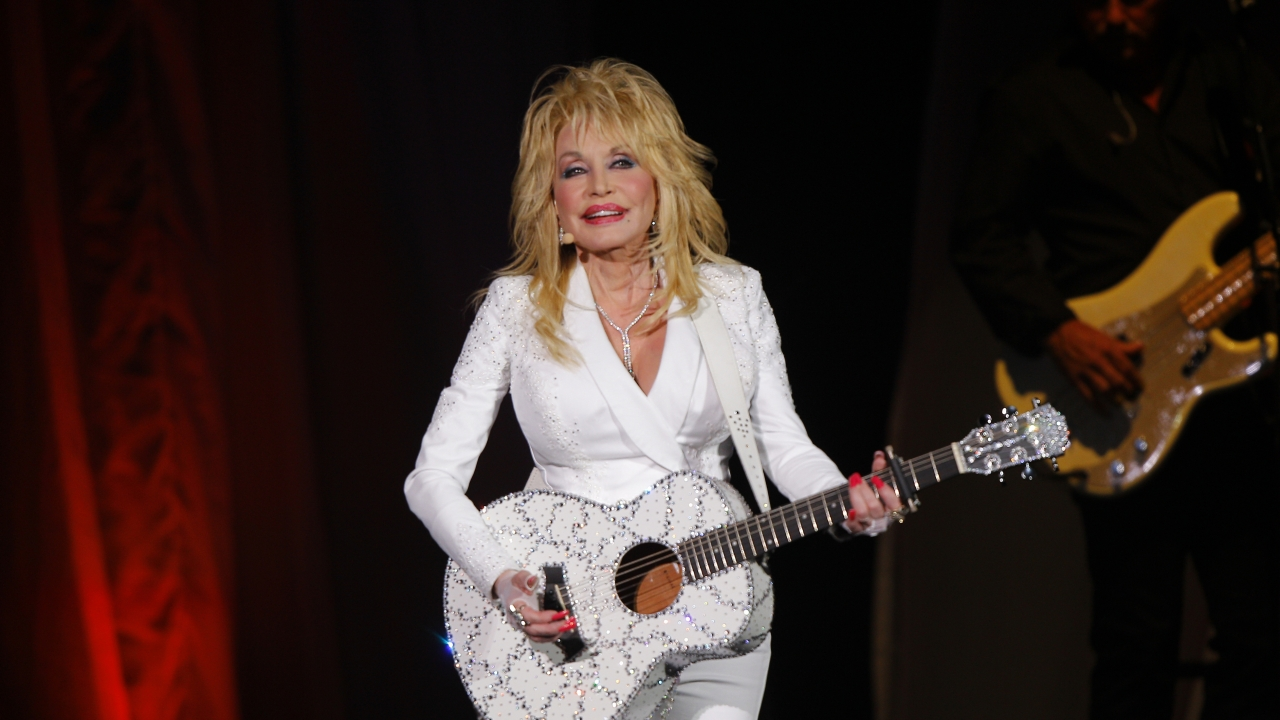 Dolly Parton performs in concert.