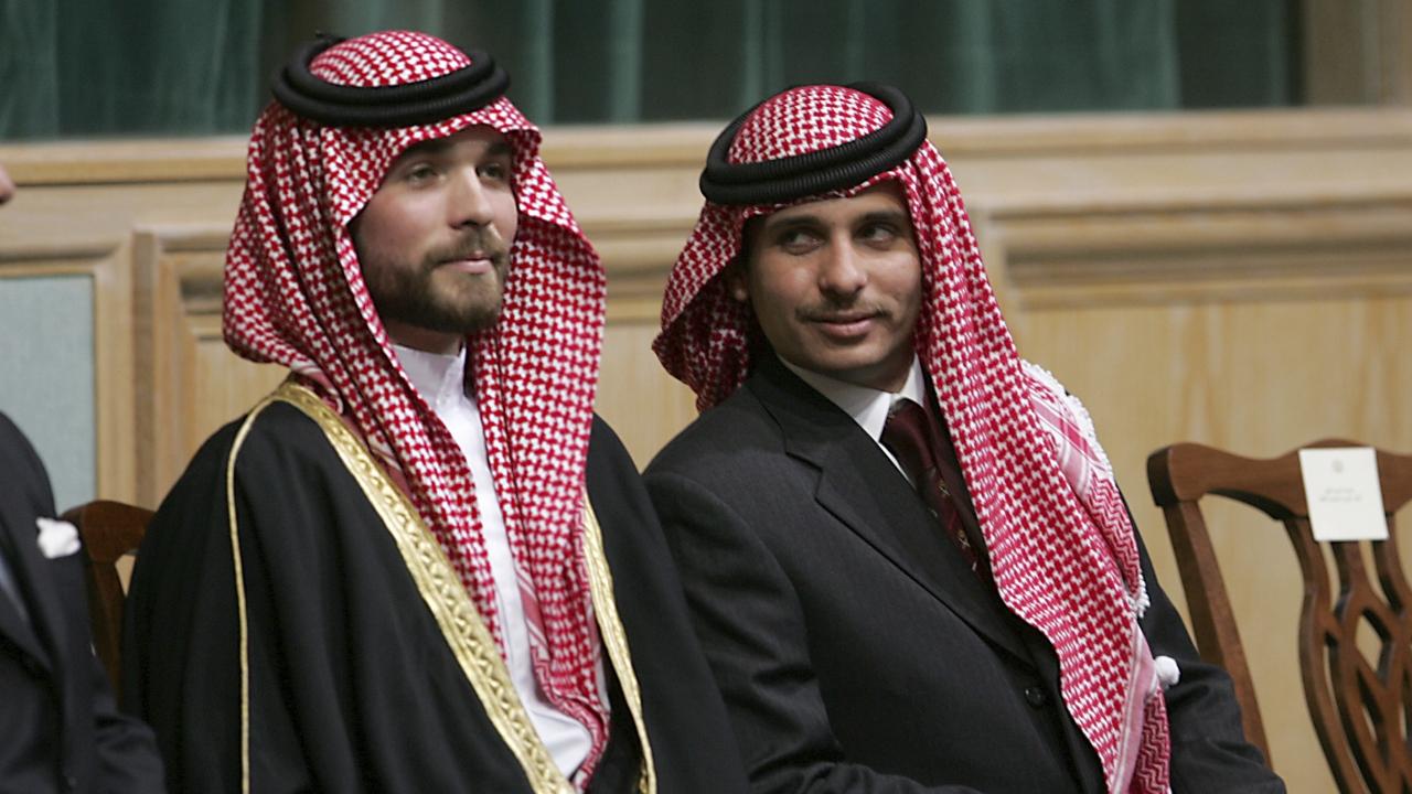 Prince Hamza Bin Al-Hussein, right, and Prince Hashem Bin Al-Hussein.