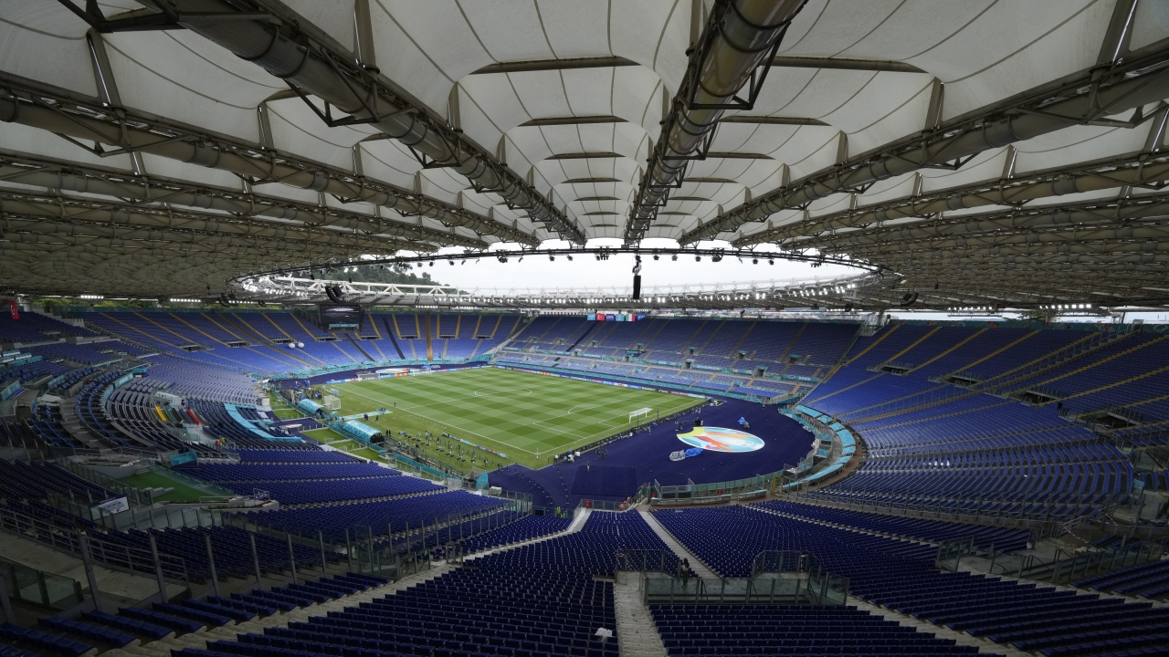 A view of the stadium prior to an Italian national team training session ahead of Friday's Euro 2020