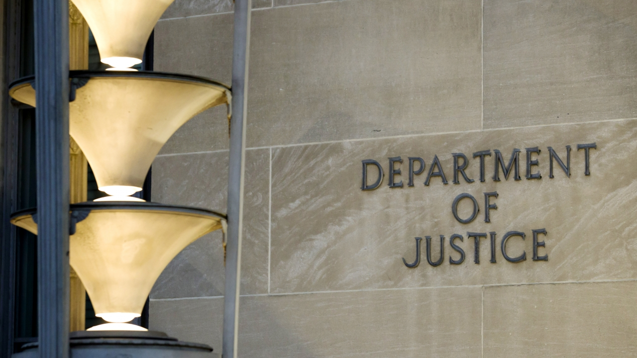 The Department of Justice in Washington, D.C.