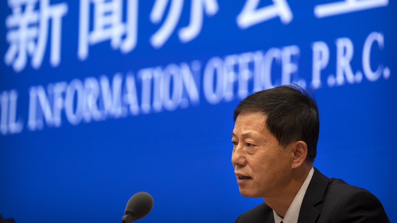 Official with the Wuhan Institute of Virology speaks to reporters