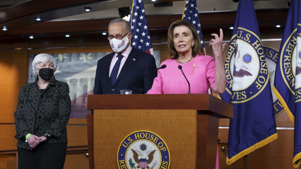 Speaker of the House Nancy Pelosi and Senate Majority Leader Chuck Schumer.