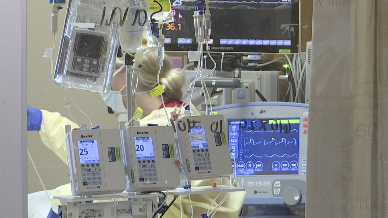 Woman works in an ICU