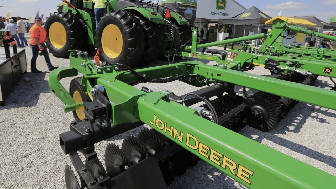 A John Deere tractor