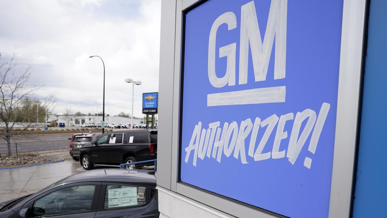 General Motors sign at a dealership.